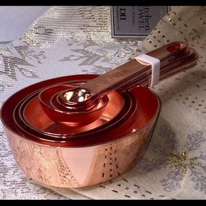 Copper measuring cups & measuring spoons